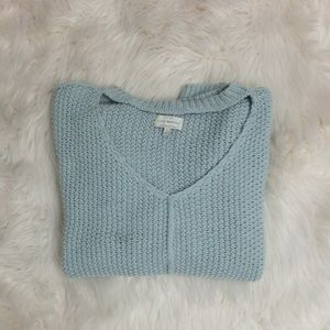 Lucky Brand Baby Blue Thick Knit Sweater